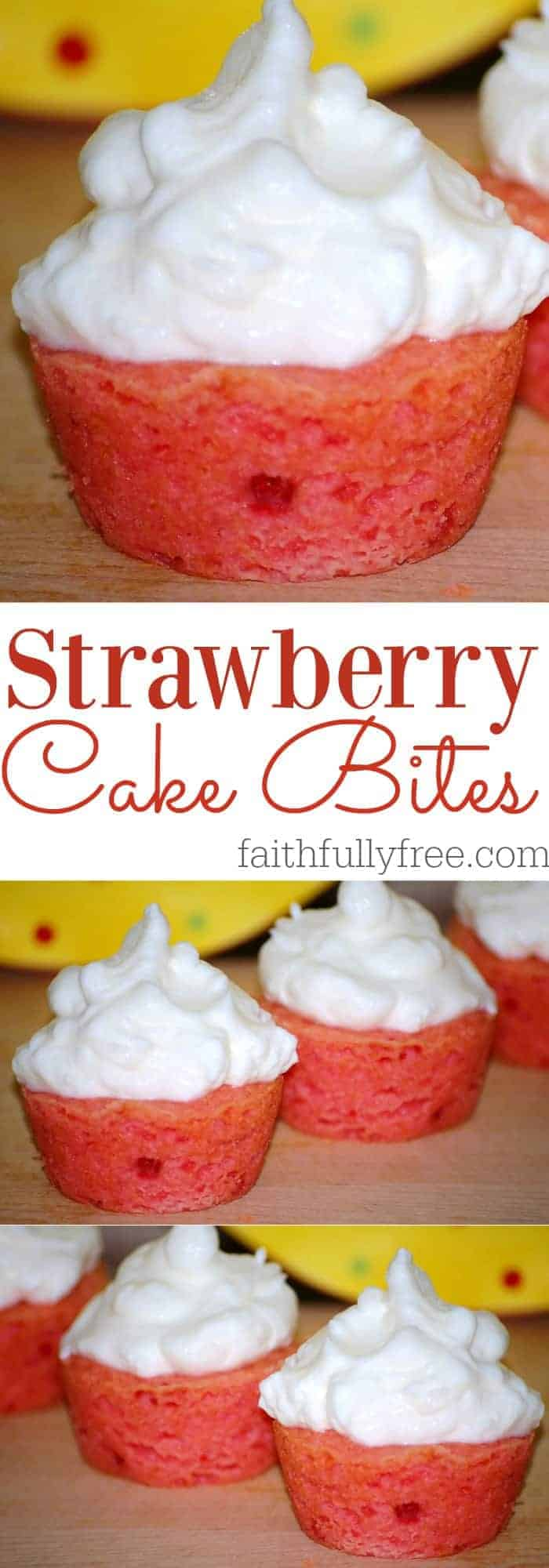 Mini Strawberry Cake Bites