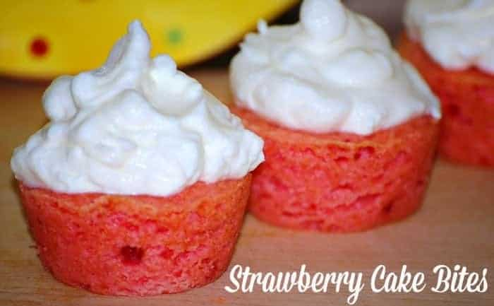 Strawberry Cake Bites Recipe