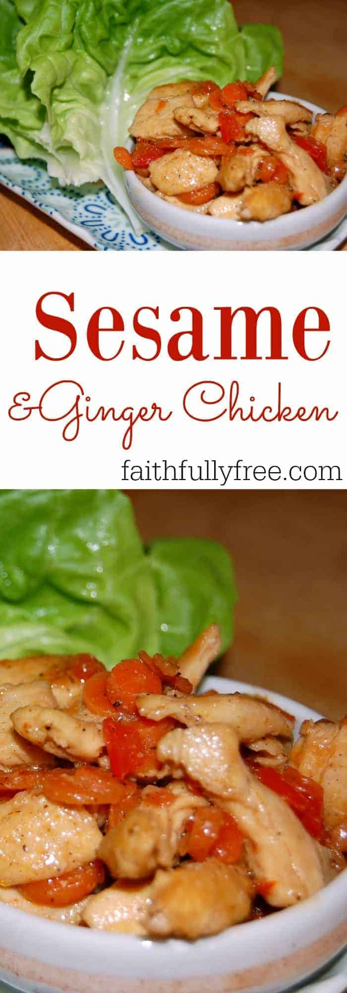 Asian Family Dinners Sesame and Ginger Chicken