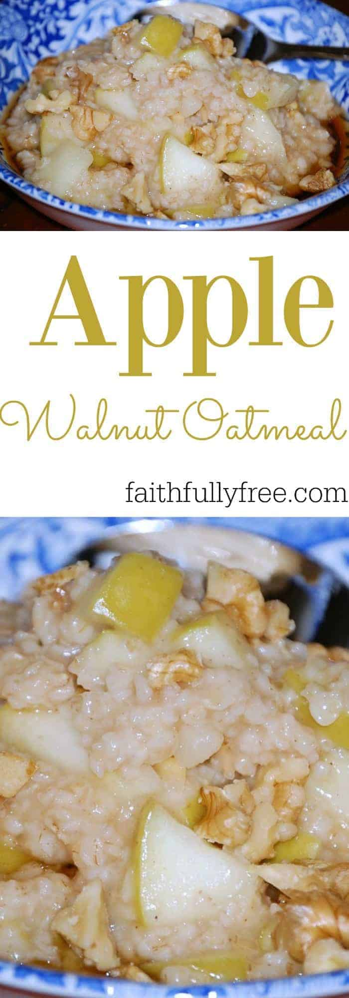 Apple Walnut Oatmeal - Back To School Breakfast Of Champions