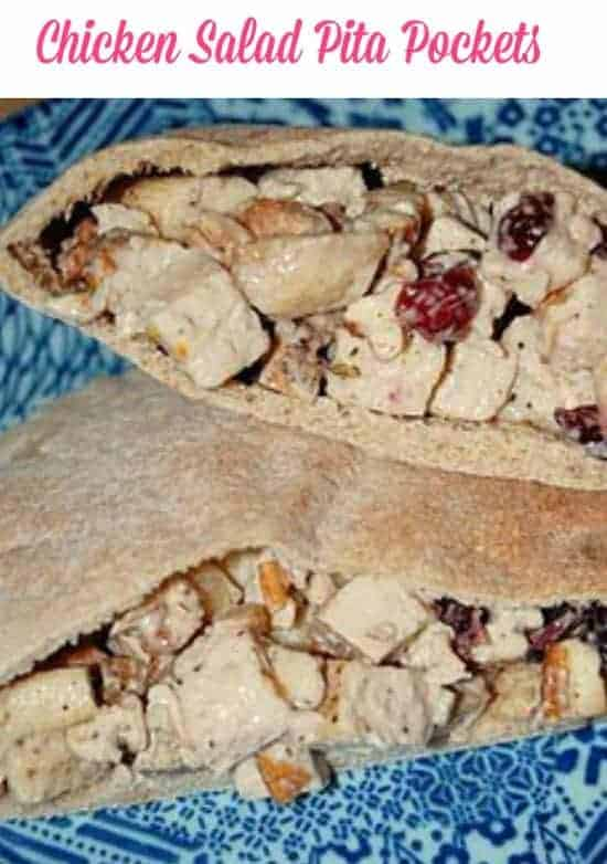 cranberry chicken salad pita pockets