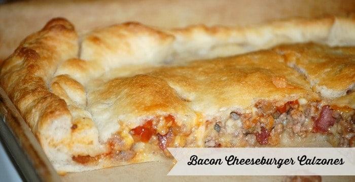 Bacon Cheeseburger Calzones