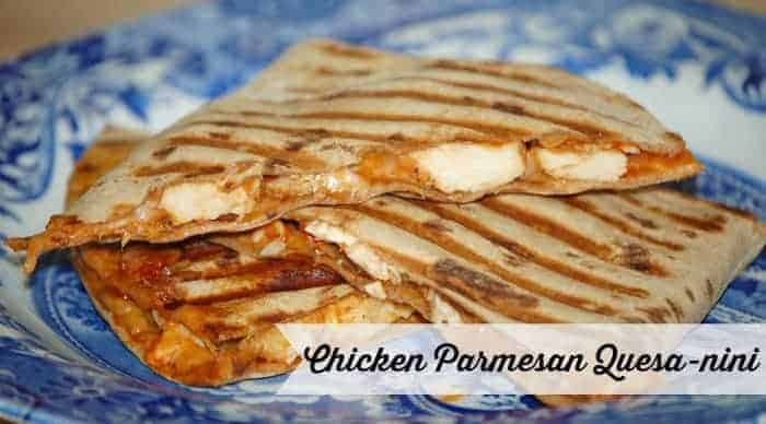 chicken parm quesadillas