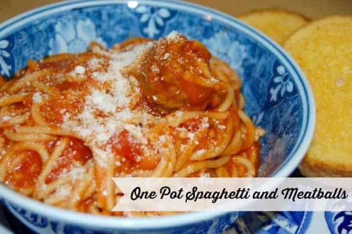 One Pot Spaghetti and Meatballs
