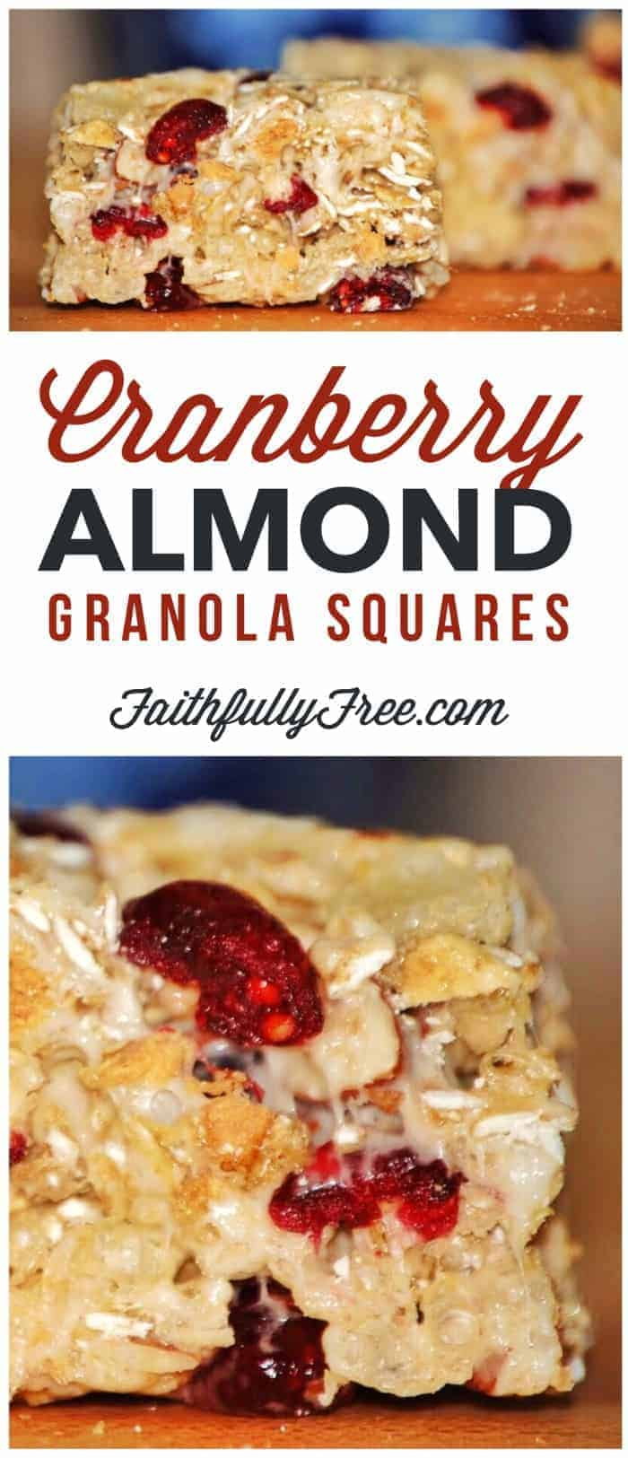 Cranberry Almond Granola Squares Recipe
