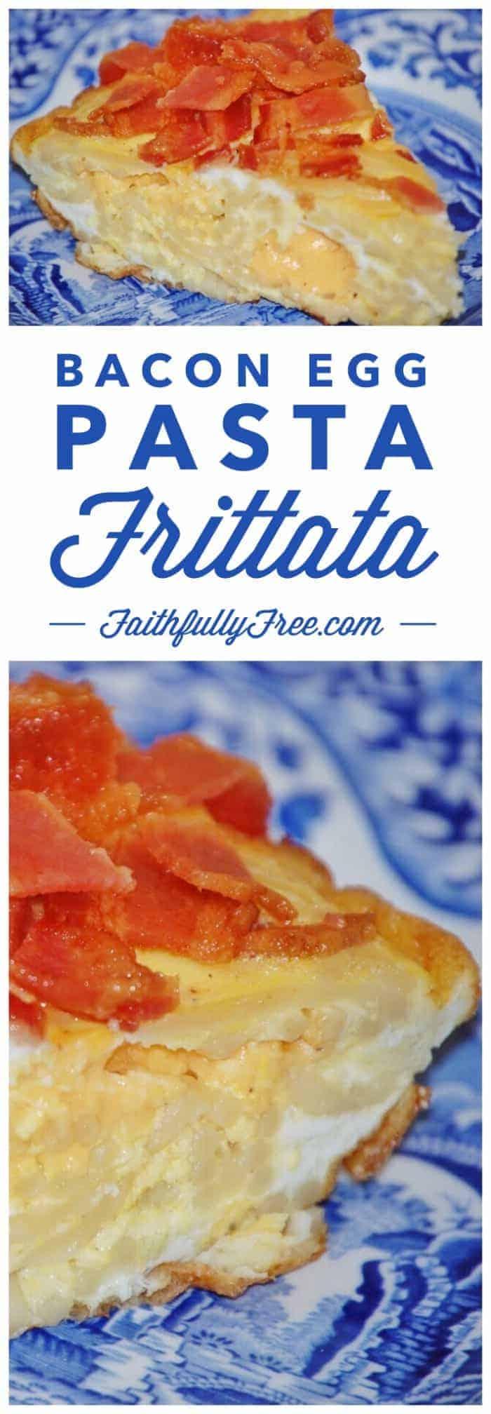 Bacon Egg Pasta Frittata Recipe