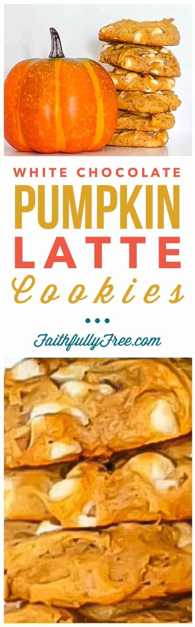 White Chocolate Pumpkin Latte Cookies Recipe