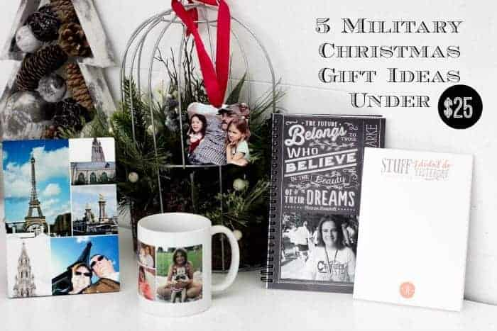 "5 Military Christmas Gift Ideas Under $25. Giving personalized gifts is a way to make family members feel special and ""at home"" even when you're miles apart!"