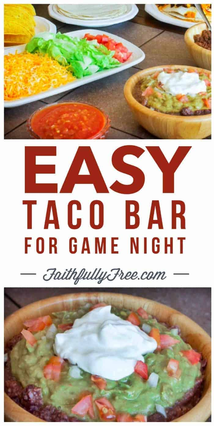 Easy Taco Bar For Game Night