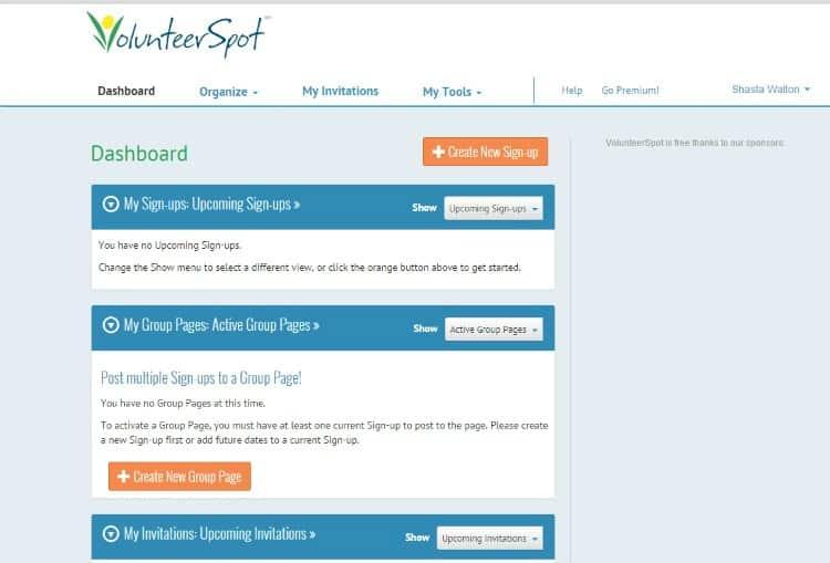 VolunteerSpot Tutorial