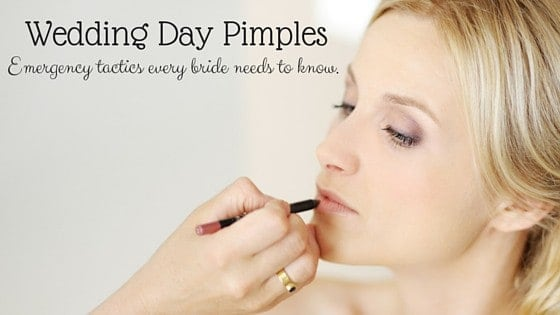 Wedding Day Pimples