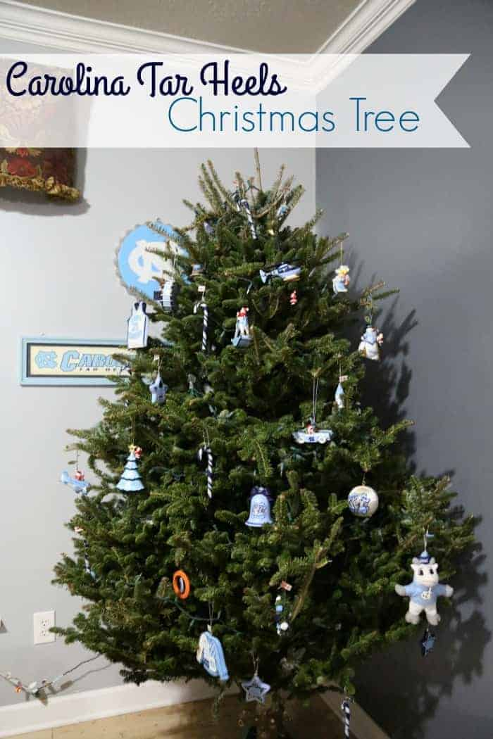 Carolina Tar Heels Christmas Tree