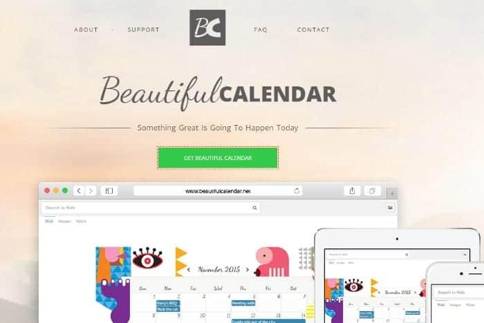 Simple Beautiful Online Calendars