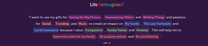 Life Reimagined Life Map