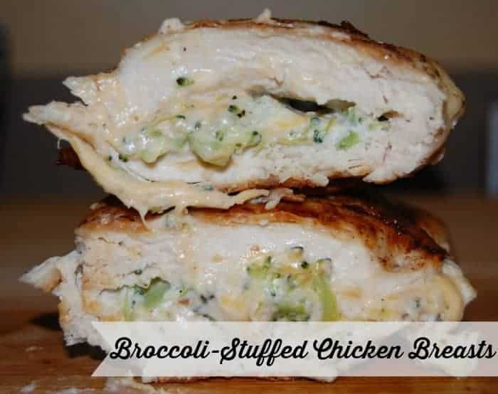 broccoli stuffed chicken breasts