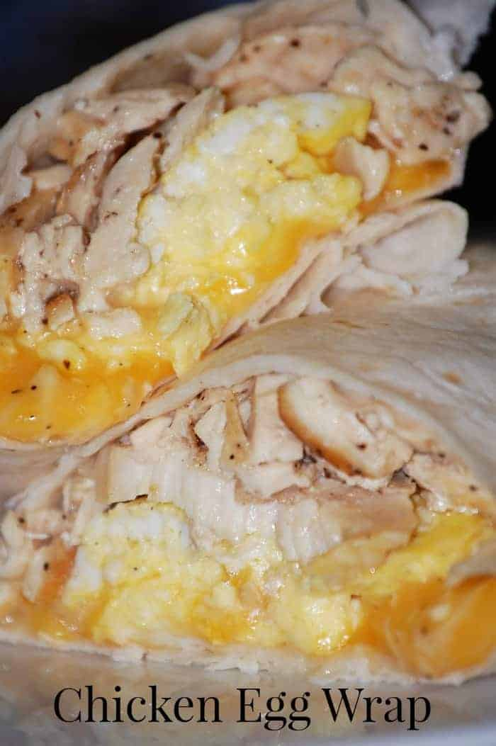 breakfast wrap with chicken and cheese