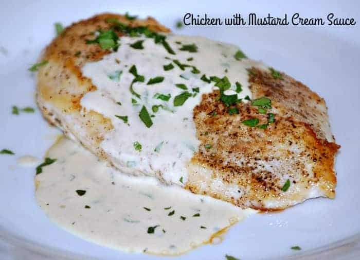 creamy chicken breasts with mustard sauce