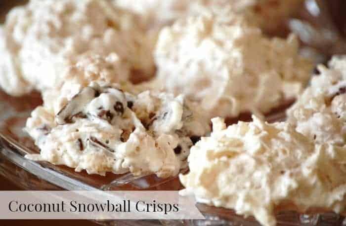 Coconut Snowball Crisps