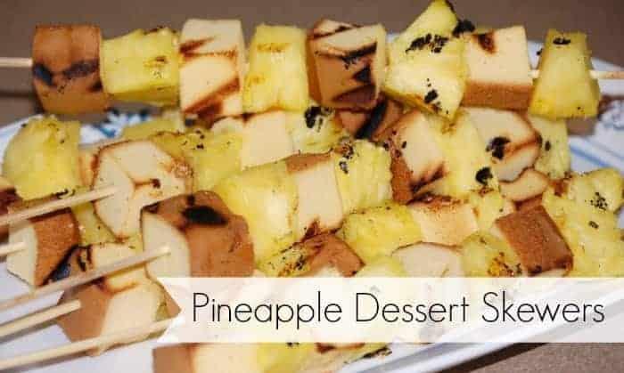 Pineapple Dessert Skewers