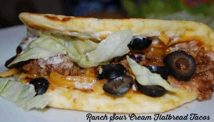 Ranch Sour Cream Flatbread Tacos