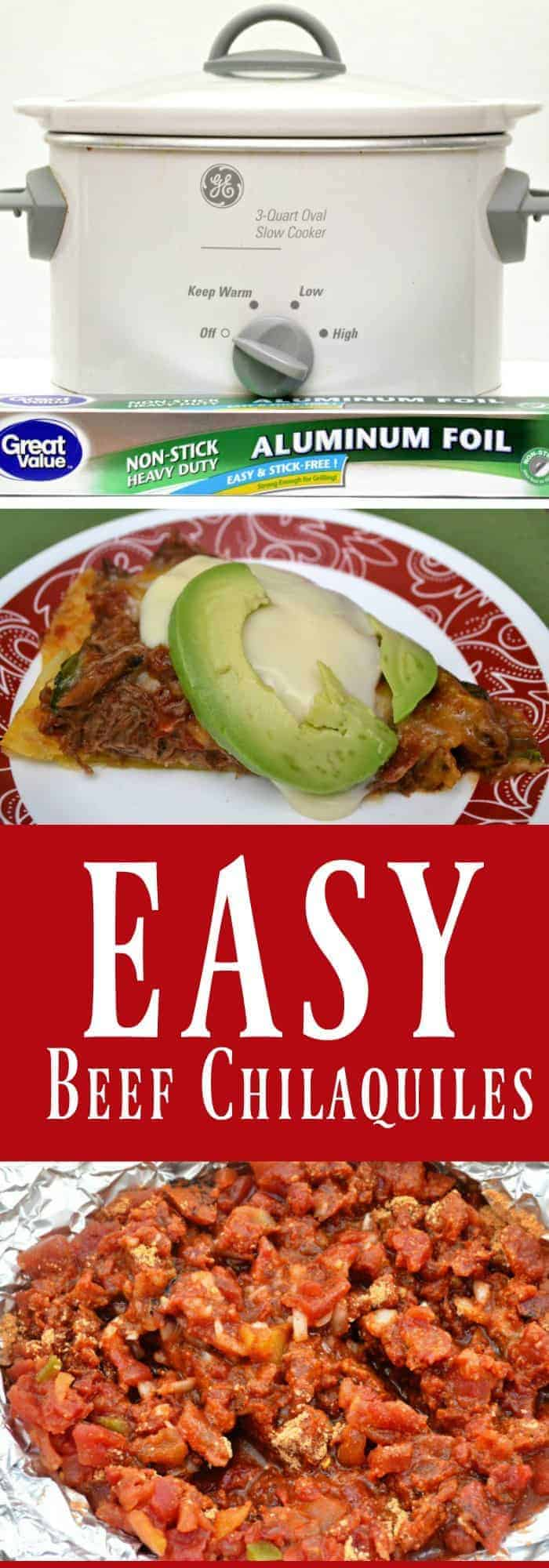 Easy Beef Chilaquiles
