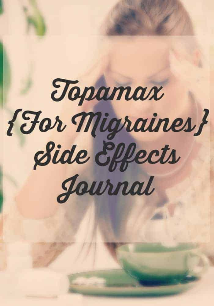 Topamax Side Effects Journal