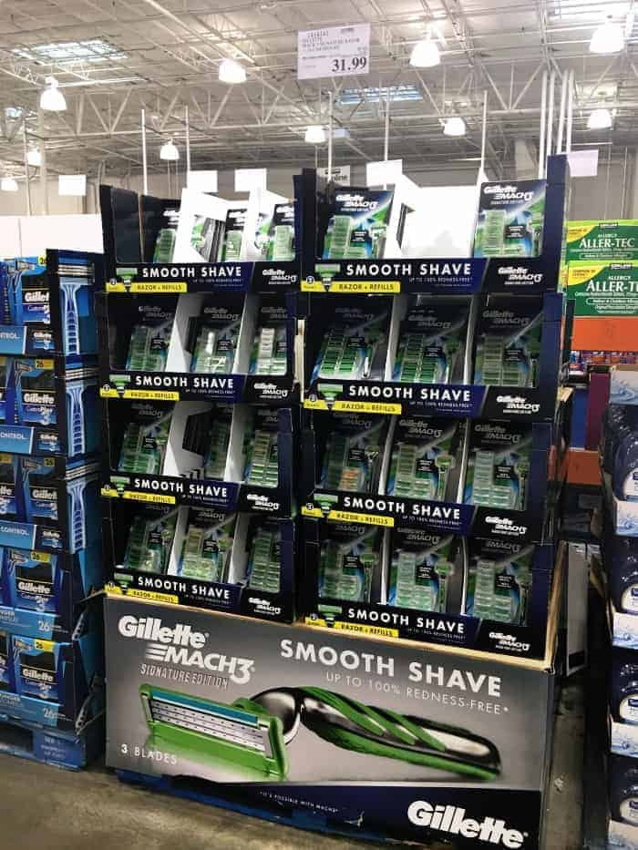 Gillette Mach3 Costco Store Display