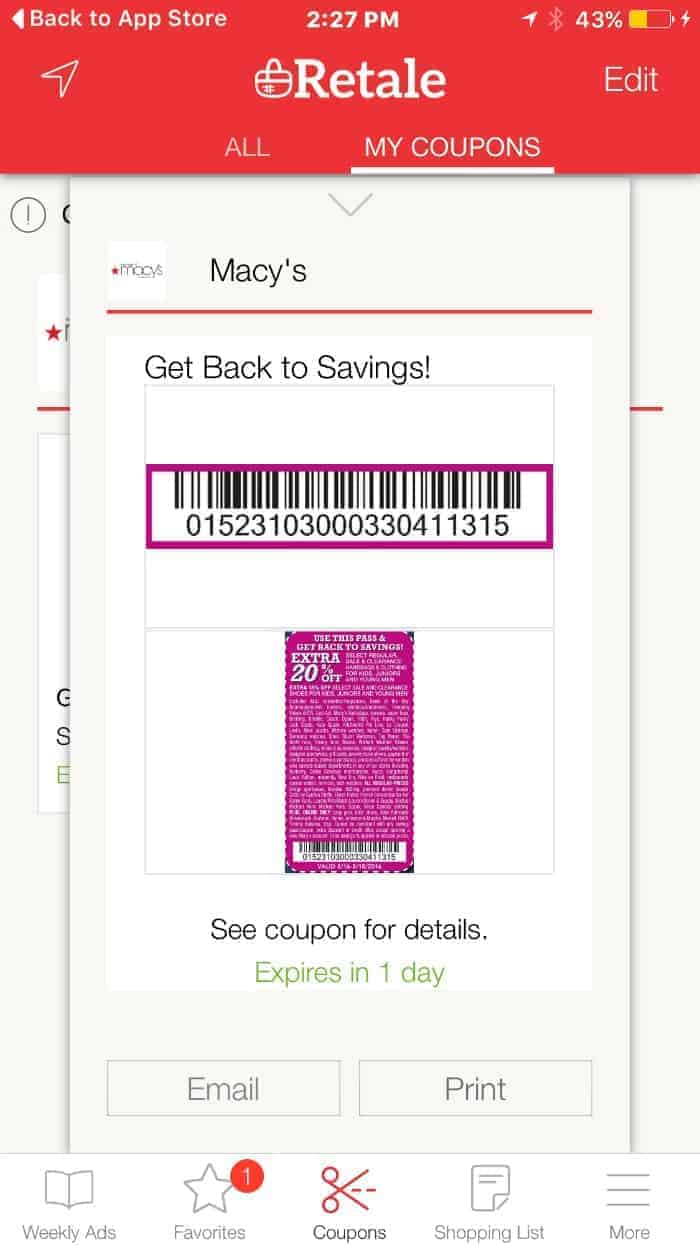 Retale App Save Coupons