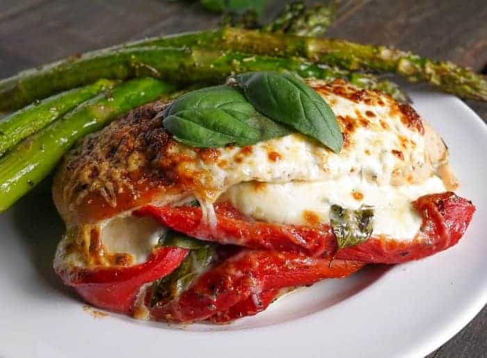 roasted-red-pepper-mozzarella-and-basil-stuffed-chicken