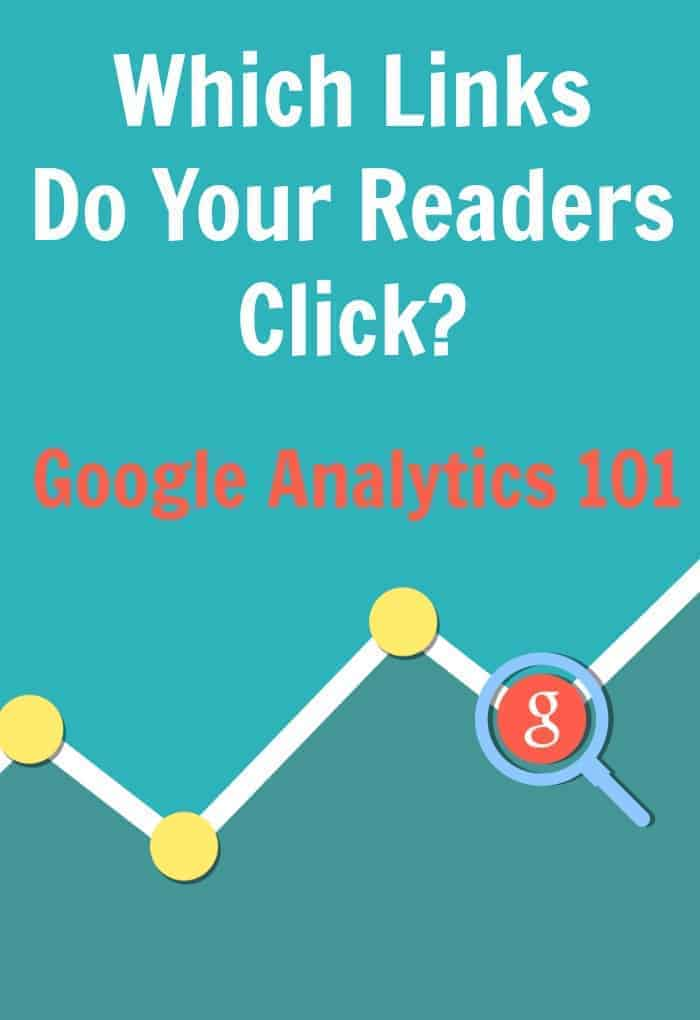 Which Links Do Your Readers Click? Google Analytics 101 - Learn which links your readers are clicking on and become a better blogger today. Make more money and find out what your readers like and what they don't. | faithfullyfree.com