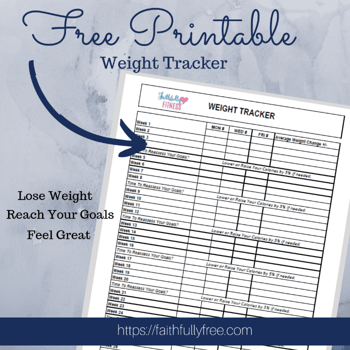 BEST Free Printable Weight Tracker for lasting results!