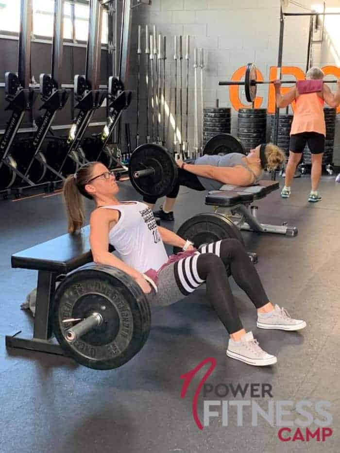 Woman Doing Barbell Hip Thrust