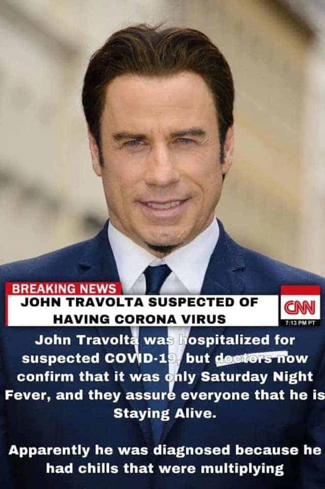 John Travolta coronavirus memes