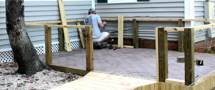 Adding Walls to a Paver Patio Bottom