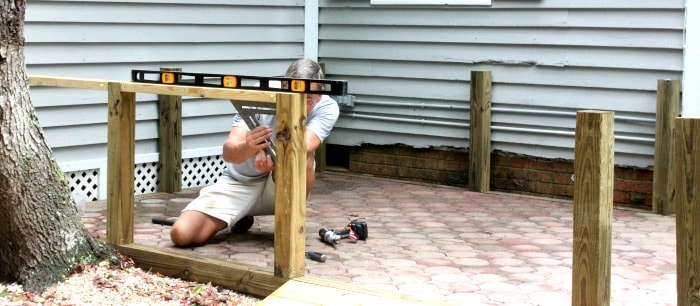 Adding Walls to a Paver Patio Framing