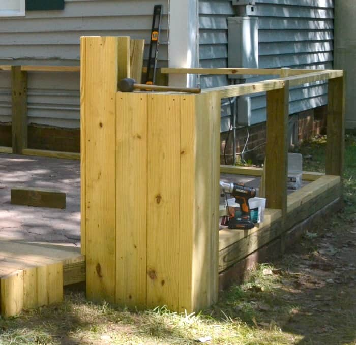 Adding Walls to a Paver Patio In and Out