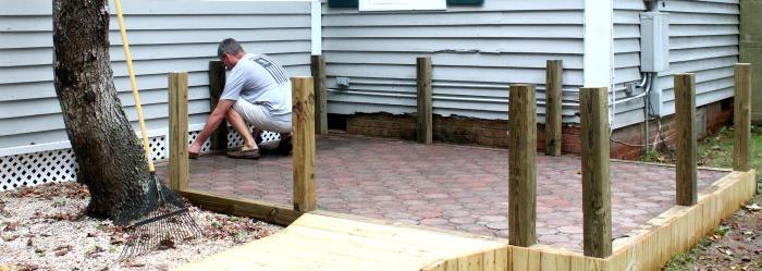 Adding Walls to a Paver Patio Posts