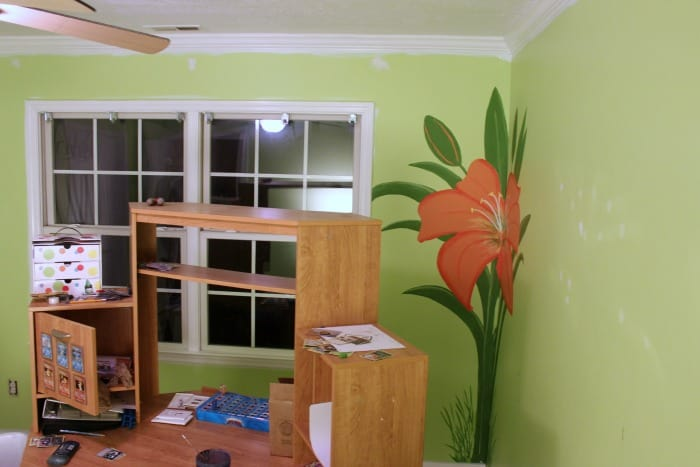 Boys bedroom makeover from green floral to Pokemon Bedroom Transformation