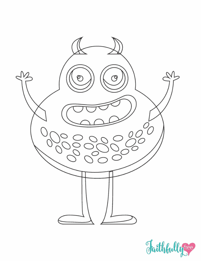 Fun Monster Coloring Pages