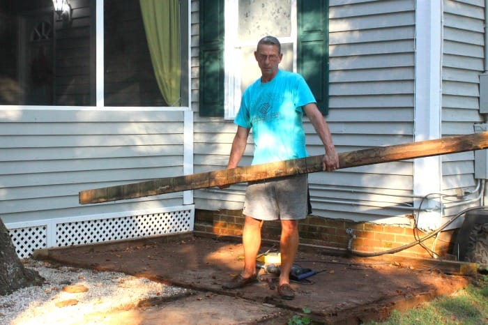 Fix a Paver Patio Frame Removal