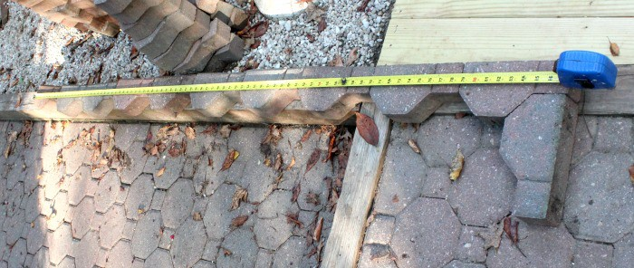 Fix a Paver Patio Measure Pavers