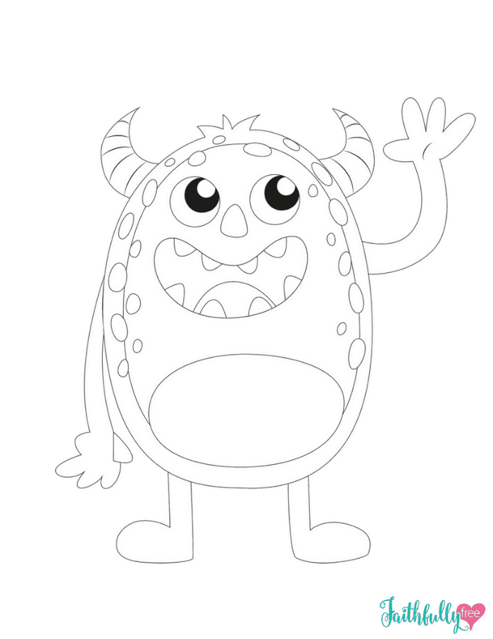 Shy Monster Coloring Pages
