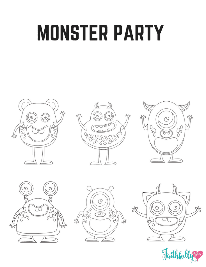 18 Monster Coloring Pages
