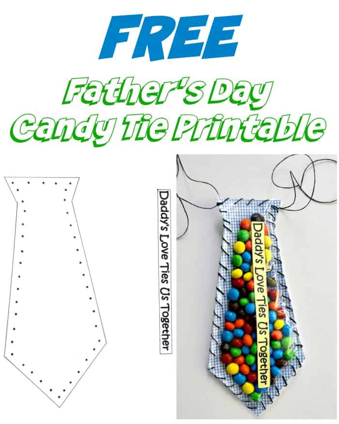 Father's Day Candy Card Printable Craft