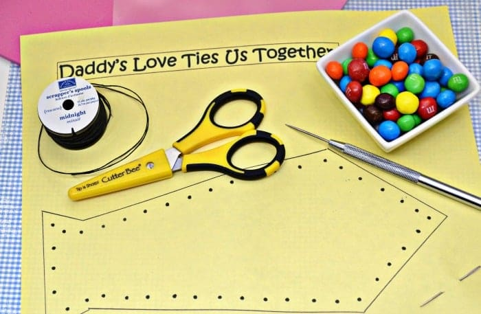 Father's Day Candy Card Supplies